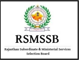 RSMSSB Recruitment 2018 – Apply Online for 1085 Stenographer Posts